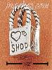Sterling Silver SHOPPING BAG CHARM