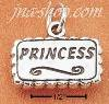 "Sterling Silver ""PRINCESS"" ON PLAQUE CHARM"