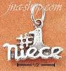 "Sterling Silver ""#1 NIECE"" CHARM"