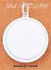 Sterling Silver 24MM ROUND SATIN DISK W/ POLISHED BORDER ENGRAVA
