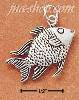 Sterling Silver ANTIQUED DETAILED FISH CHARM