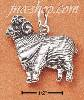 Sterling Silver ANTIQUED RAM CHARM