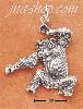 Sterling Silver ANTIQUED CHIMPANZEE CHARM