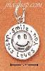 "Sterling Silver ""SMILE JESUS LOVE YOU"" CHARM"
