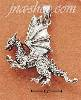 Sterling Silver MEAN LOOKING DRAGON CHARM