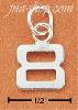 "Sterling Silver FINE LINED ""8"" CHARM"