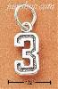 Sterling Silver JERSEY #3 CHARM