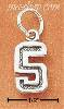 Sterling Silver JERSEY #5 CHARM
