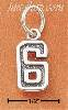 Sterling Silver JERSEY #6 CHARM