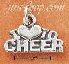 Sterling Silver I LOVE TO CHEER CHARM