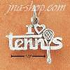 "Sterling Silver ""I LOVE TENNIS"" CHARM"