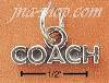 "Sterling Silver ""COACH"" CHARM"