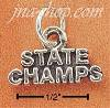 "Sterling Silver ""STATE CHAMPS"" CHARM"
