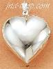 Sterling Silver LARGE HIGH POLISH HEART PENDANT
