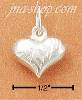 Sterling Silver TINIEST ETCHED HEART CHARM