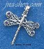 Sterling Silver FILIGREE DRAGONFLY W/ FOUR ROUND AMETHYST STONES