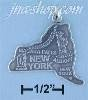 Sterling Silver NEW YORK STATE CHARM