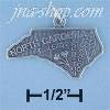 Sterling Silver NORTH CAROLINA STATE CHARM