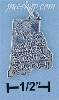 Sterling Silver RHODE ISLAND STATE CHARM