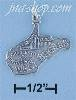 Sterling Silver WEST VIRGINIA STATE CHARM