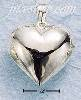 Sterling Silver LARGE HIGH POLISH PUFF HEART CHARM