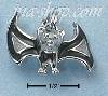 Sterling Silver ENAMEL 3D BAT CHARM WITH BLACK & WHITE WINGS