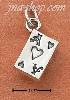 Sterling Silver 3-D ACE OF HEARTS CHARM