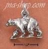 Sterling Silver ANTIQUED 3D WALKING BEAR CHARM