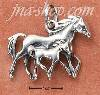 Sterling Silver MOTHER AND FOAL GALLOPING HORSES