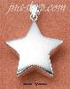 Sterling Silver LARGE SHINING STAR CHARM
