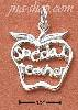 "Sterling Silver ""SPECIAL TEACHER"" APPLE CHARM"