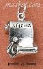 Sterling Silver ANTIQUED OPEN DIPLOMA SCROLL CHARM