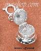 Sterling Silver Wedding Bell Zipper Pull CZ Engagement Ring Inside Charm Pendant