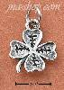 Sterling Silver FOUR LEAF LUCKY CLOVER WITH ETCHING CHARM
