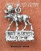 "Sterling Silver ""BAR HARBOR MAINE"" SIGN WITH MOOSE CHARM"