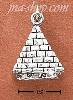 Sterling Silver ANTIQUED 3-D PYRAMID CHARM