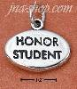 "Sterling Silver ""HONOR STUDENT"" OVAL CHARM"