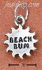 "Sterling Silver SUN WITH ""BEACH BUM"" CHARM"