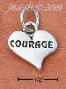 "Sterling Silver ""COURAGE"" HEART CHARM"