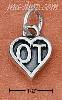 "Sterling Silver ""OT"" OCCUPATIONAL THERAPIST HEART CHARM"