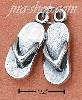 Sterling Silver PAIR OF FLIP-FLOP SANDALS CHARM