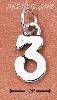 "Sterling Silver ""3"" THREE CHARM"