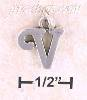 "Sterling Silver ""V"" SCROLLED CHARM"