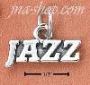 "Sterling Silver ""JAZZ"" CHARM"