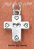 Sterling Silver CROSS WITH FIVE HEARTS CHARM