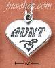 "Sterling Silver ""AUNT"" WITH HEART ON HEART CHARM"