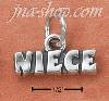"Sterling Silver ANTIQUED ""NIECE"" CHARM"