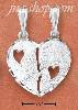 "Sterling Silver ""BEST FRIENDS"" BROKEN HEART W/ TWO OPEN HEARTS C"