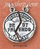 "Sterling Silver ""FRIENDSHIP/BEST FRIENDS"" BROKEN MEDAL CHARM"