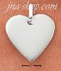 Sterling Silver 21MM FLAT ENGRAVABLE HEART TAG CHARM